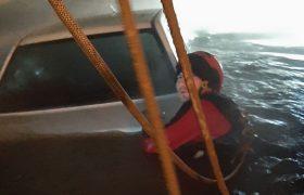 سقوط پراید در کانال آب ری-ورامین