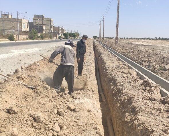 افت فشار آب ۲ شهرک در حسن آباد فشافویه برطرف شد