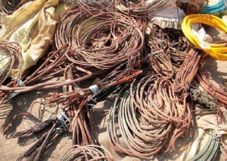 کشف ۴ تن کابل برق از پسماندسوزان شهرستان ری