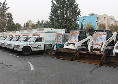 تجهیز ۱۵ سایت برف روبی در شهرری