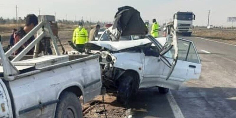 تصادف در جاده قدیم تهران ـ قم ۲ کشته و ۲ مصدوم برجا گذاشت