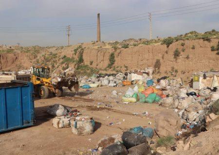 ۷۵ تن ضایعات مراکز غیرمجاز تفکیک زباله در بخش خاوران جمعآوری شد