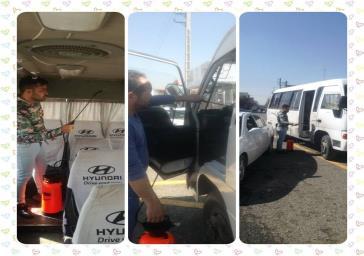 ضدعفونی ناوگان حمل و نقل عمومی باقرشهر هر روز در چندین نوبت