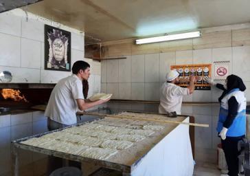 نظارت دقیق شبکه بهداشت شهرستان ری بر نانوایی ها