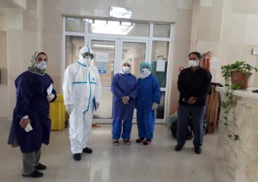 بازدید کارشناسان معاونت بهداشت از آسایشگاه خیریه سالمندان و معلولین کهریزک