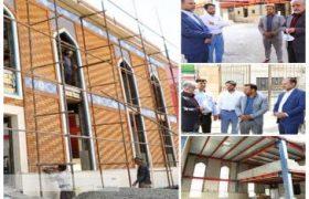 بازدید شهردار و اعضای شورای اسلامی باقرشهر از مراحل ساخت مسجد امیرالمومنین (ع) شهرک ارغوان