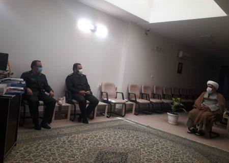 دیدار فرمانده سپاه ناحیه عبدالعظیم(ع) با مسئول رسیدگی به امور مساجد شهرستان ری
