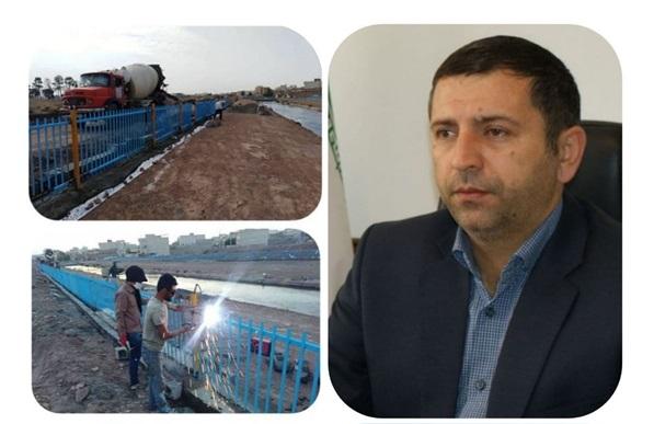 کانال آب ری – ورامین در حریم شهر قیامدشت ایمنسازی شد