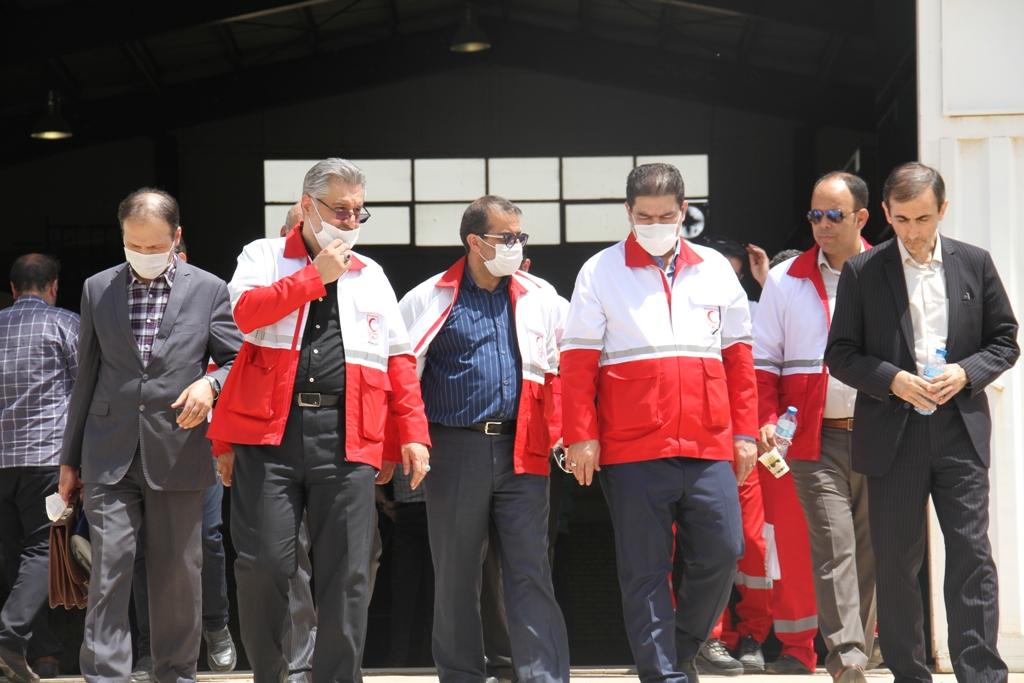 بازدید رئیس جمعیت هلال احمر جمهوری اسلامی ایران از انبارهای امدادی جمعیت هلال احمر شهرستان ری