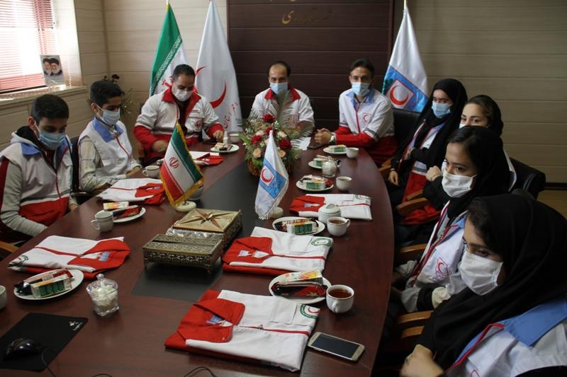 برگزاری مراسم تحلیف اعضای جوانان جمعیت هلال احمر شهرستان ری