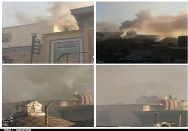 آتشسوزی محدود در حرم عبدالعظیم (ع) مهار شد
