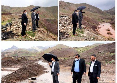 بازدید بخشدار خاوران از سیل بندهای روستای چهلقز