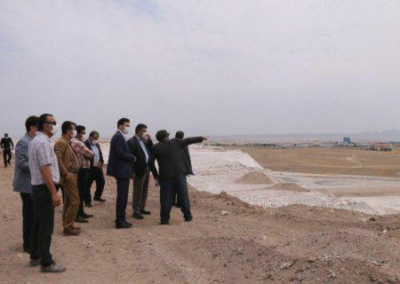 بازدید فرماندار شهرستان ری از پروژه در دست احداث منطقه ویژه اقتصادی ری