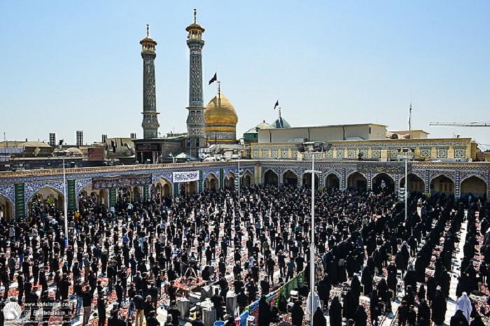 مراسم عزاداری و اقامه نماز ظهر عاشورای حسینی در حرم حضرت عبدالعظیم حسنی (ع)